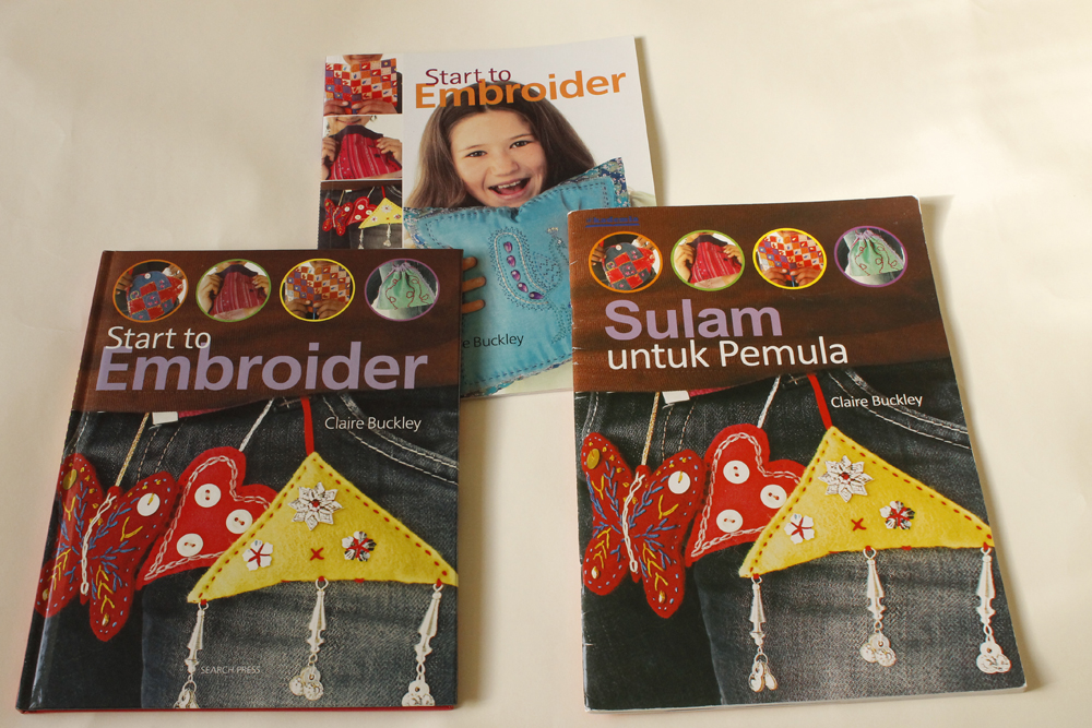 The 3 versions of 'Start to Embroider'