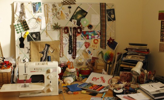 Studio with sewing machine