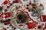 Red 'Jewels' detail