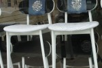PLC chairs with machine embroidery