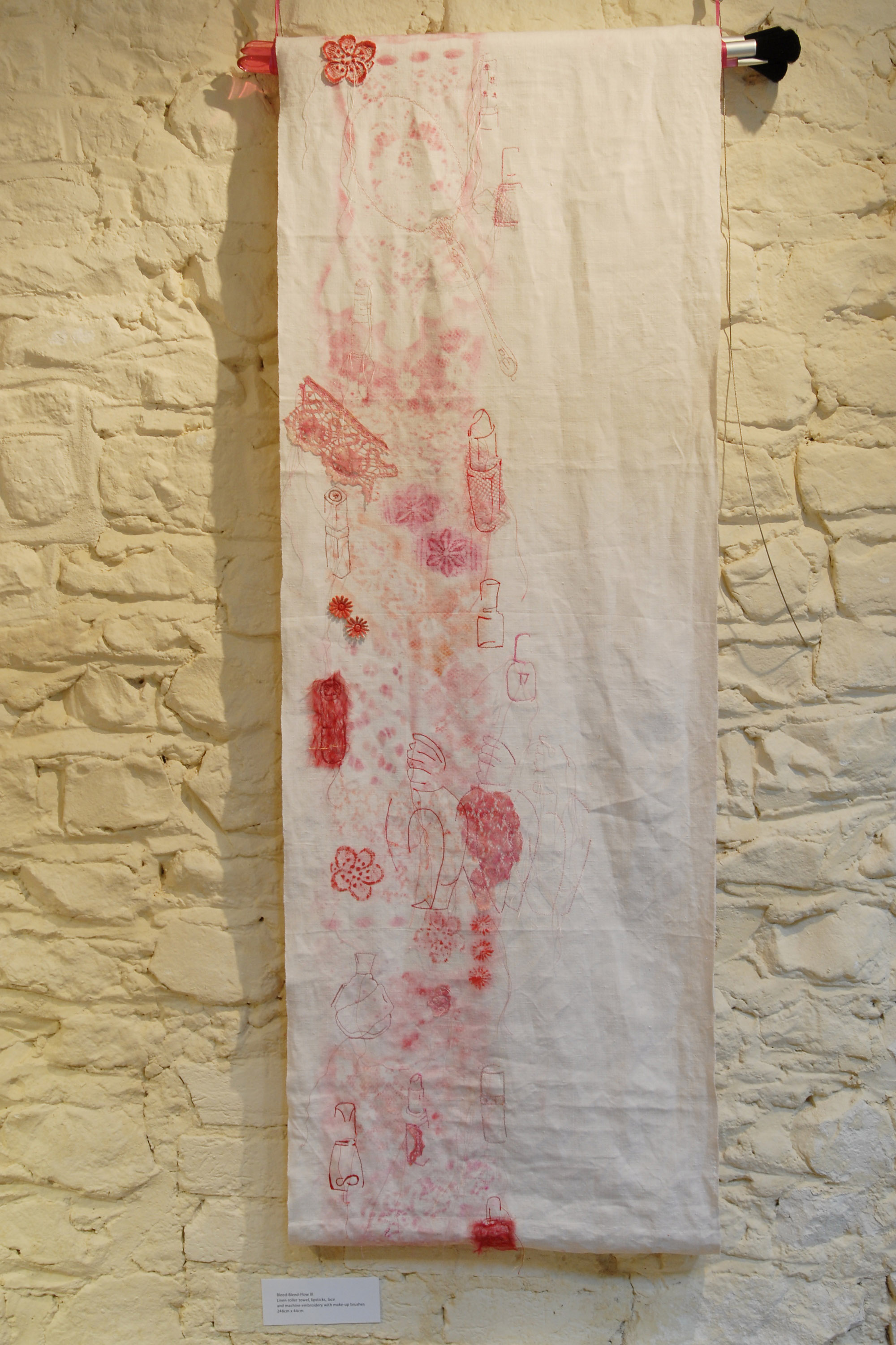 Lipstick and lace panel