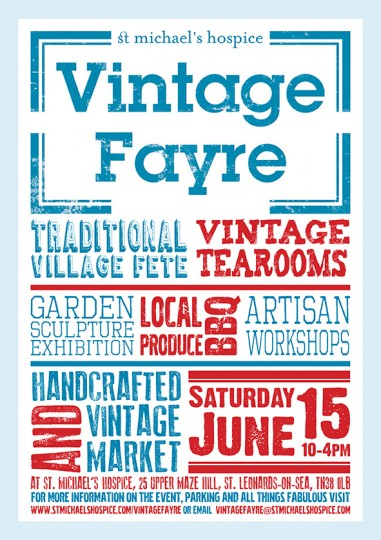 Vintage Fayre at St Michaels Hospice St Leonards on Sea