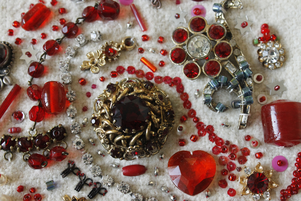 Red 'Jewels' detail