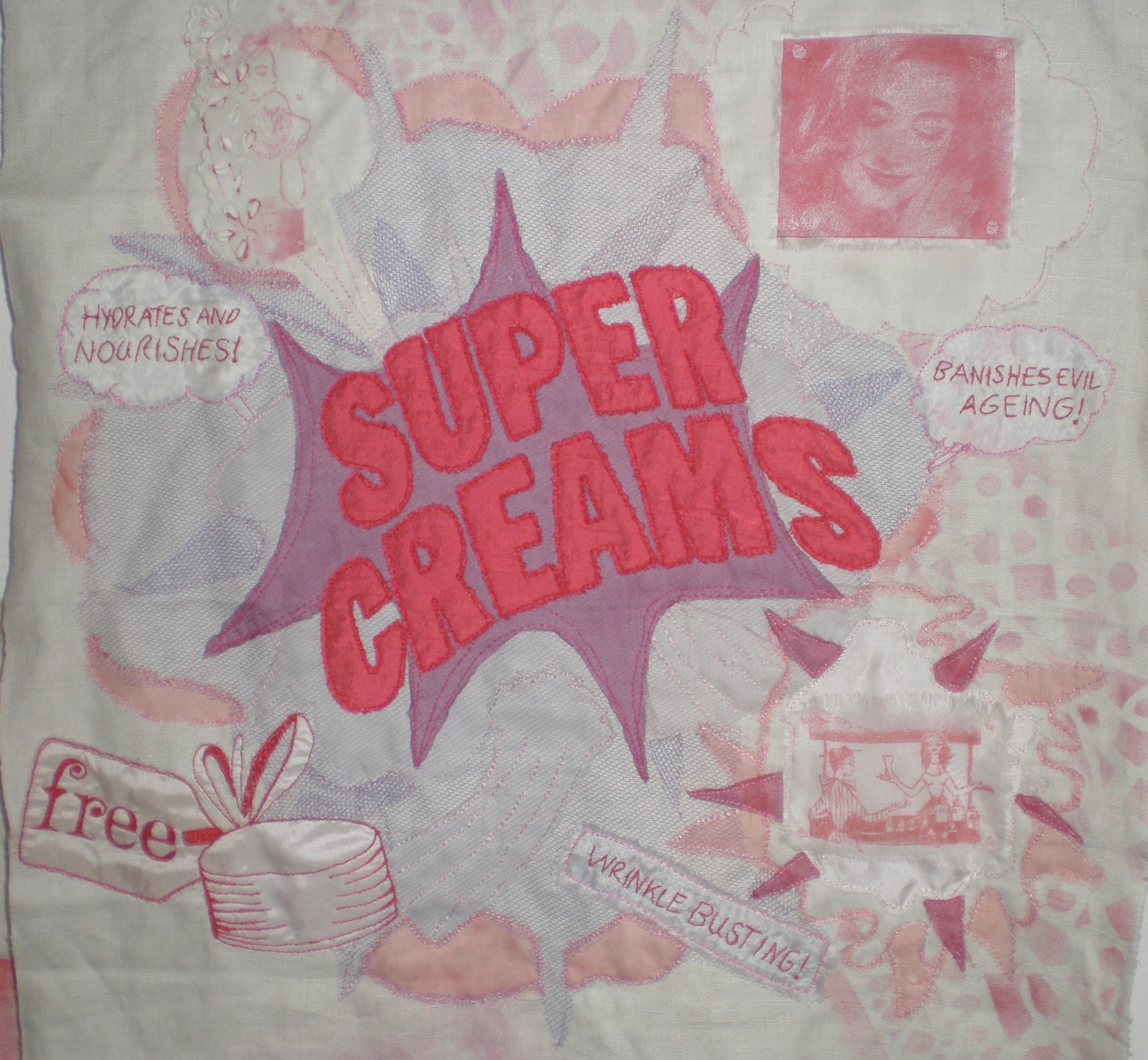 Super creams embroidery