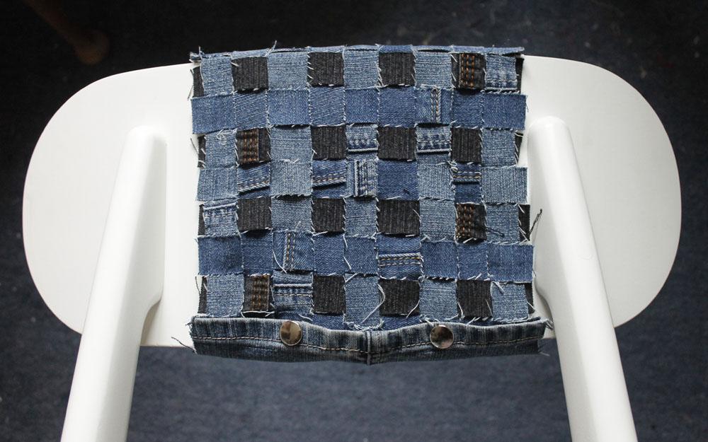 Weave back detail