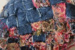 Fragments denim and machine lace weave