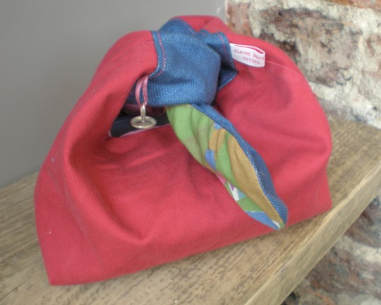 'All tied up' bag on display at Moose's Kitchen