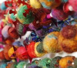 Felt , bead and sequin garland