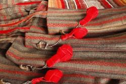 Red velvet ribbon key rings