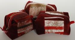 Small round velvet bags