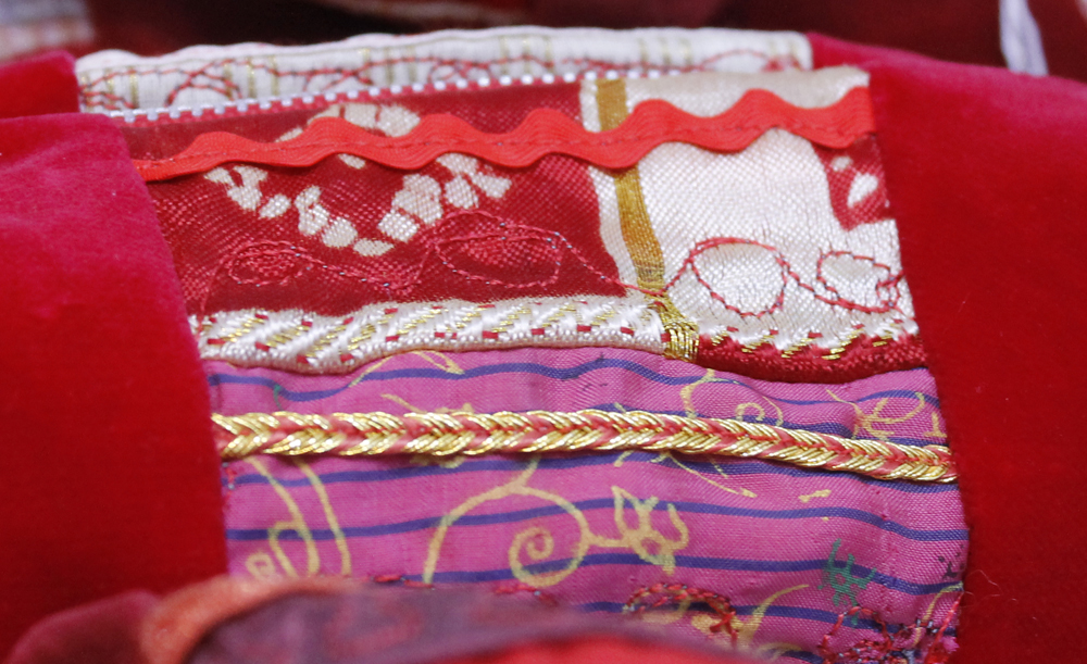 Indian brocade patchwork detail