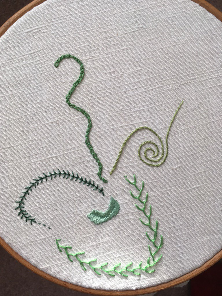 Day 5 Fern Stitch