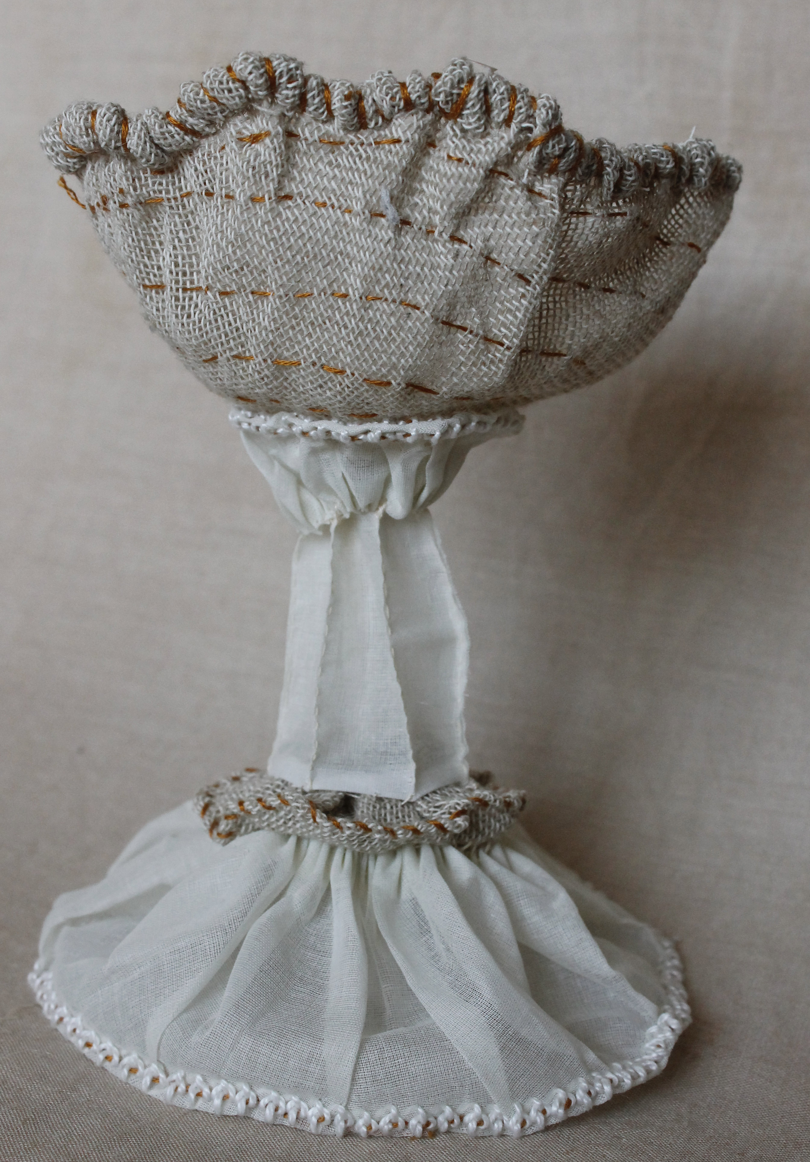 Textile piece inspired by a Silver Chalice