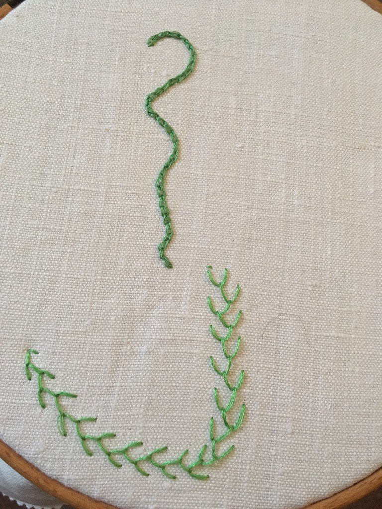 Day 2 Feather Stitch