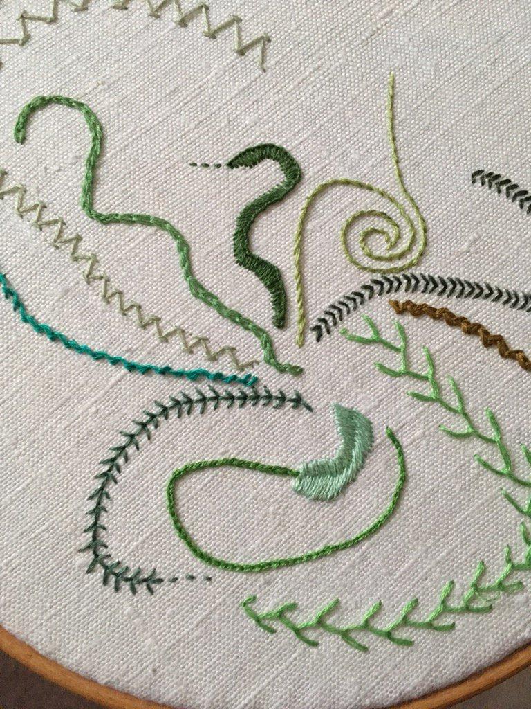 Day 11 Broad Chain Stitch