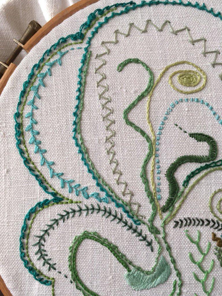 Day 21 Scroll Stitch