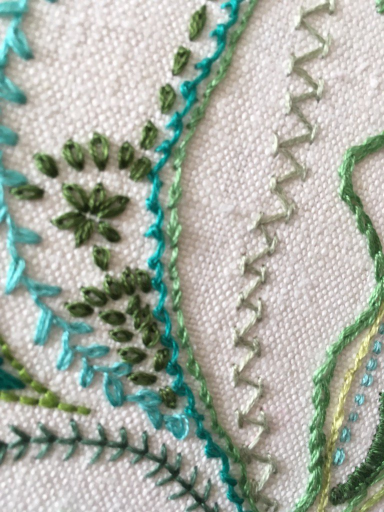 Day 22 Detached Chain Stitch