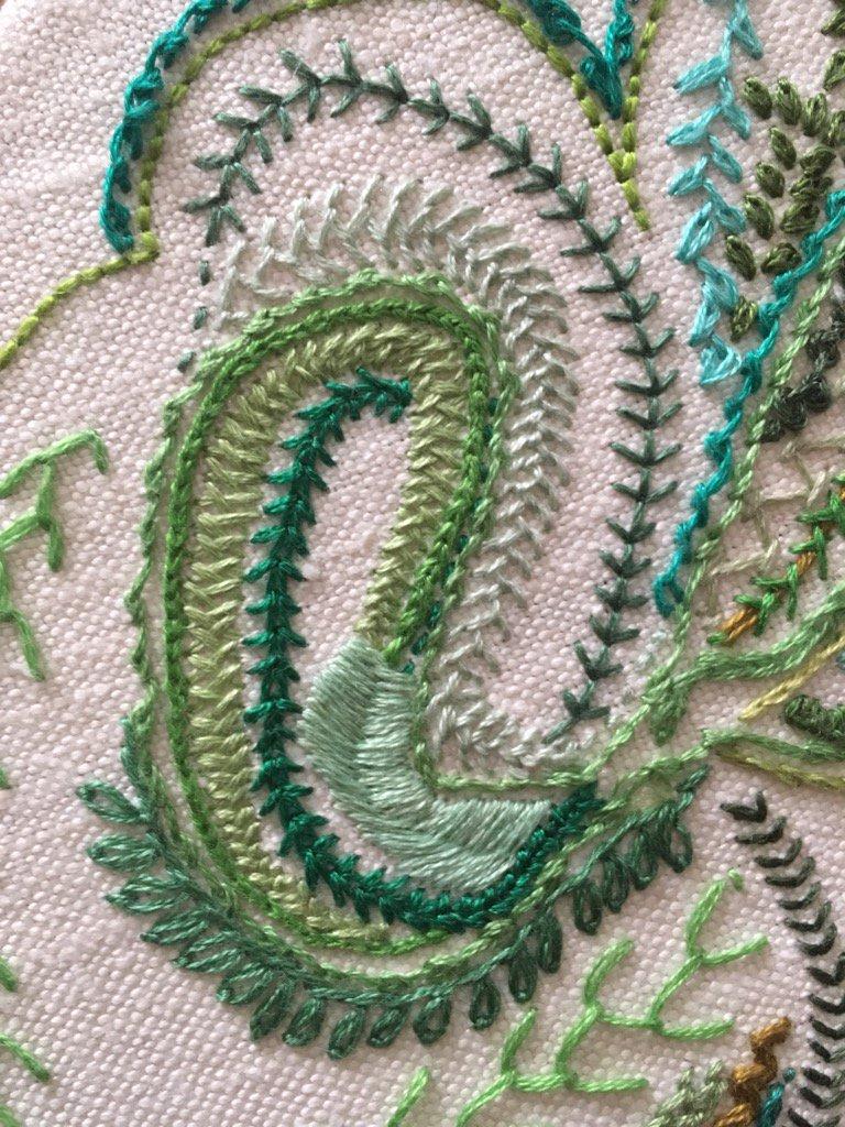 Day 34 Wheat-Ear Stitch