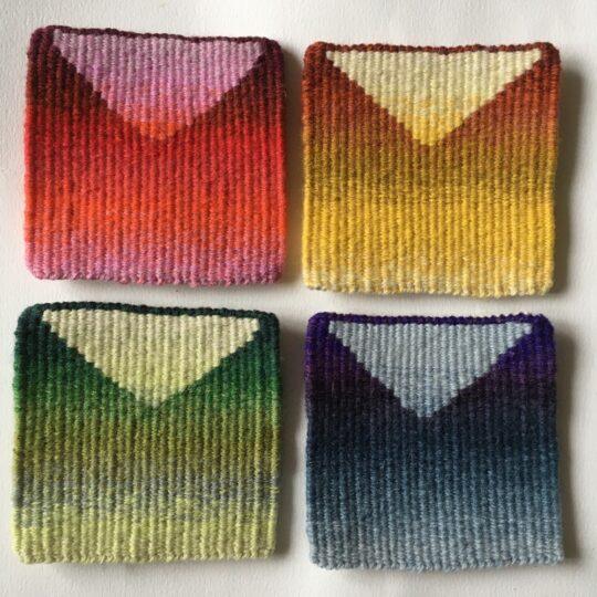 Colour blend samples - Tapestry weaving